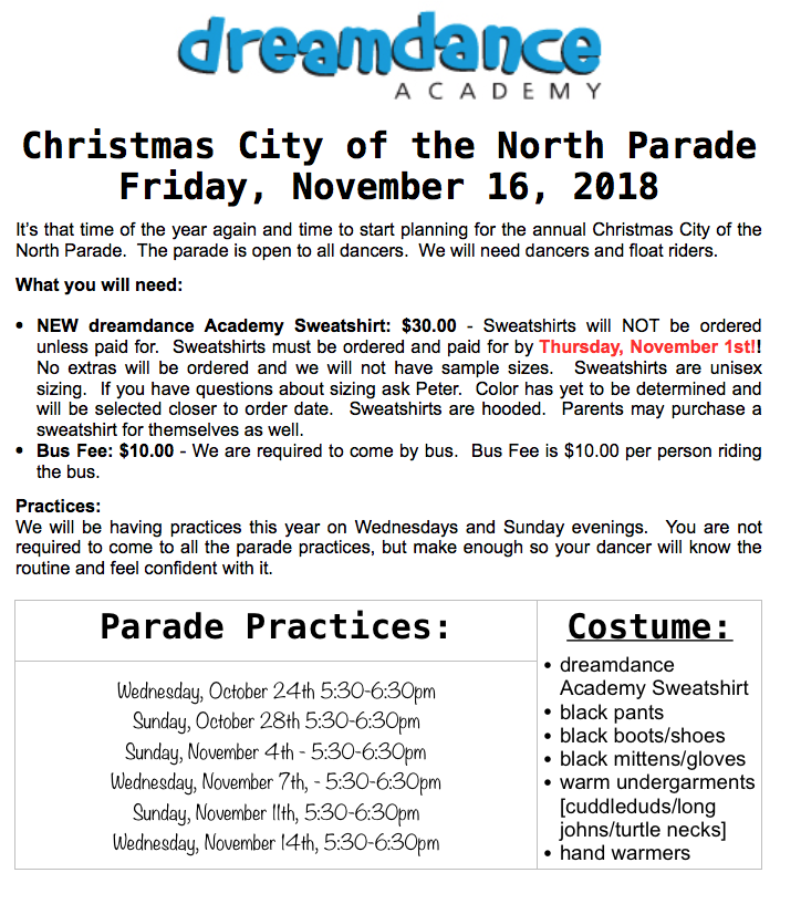 Christmas City of the NorthParade